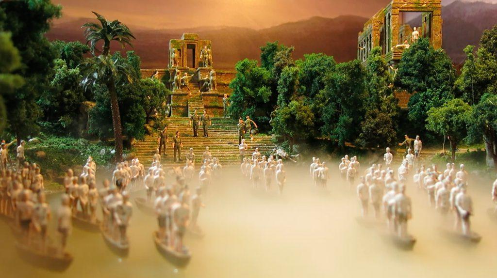 《Gulliver》越南河道迷你場景,取材自電影《現代啟示錄》(1979)