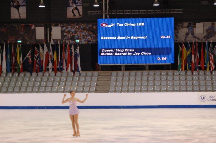 李芷菁2010年首次參加世界青少年花滑錦標賽。