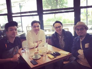 創意及社交媒體部門 - (左起)Alex, 羅永聰, YC, Stephen