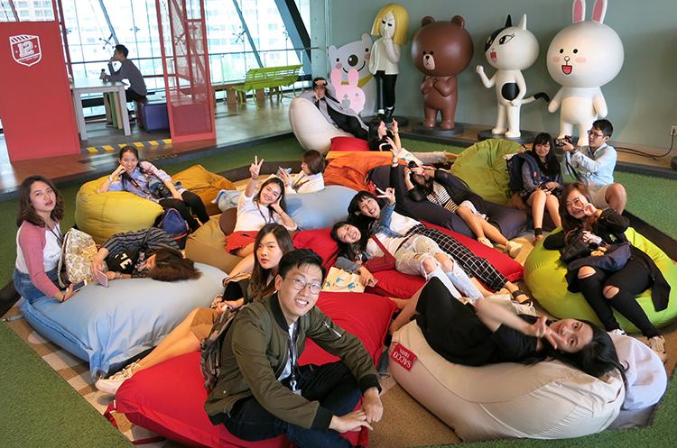 參觀Naver株式會社旗下子公司——手機通訊應用程式Line